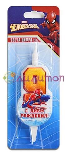 Cвеча тортовая 9 'Человек-паук'