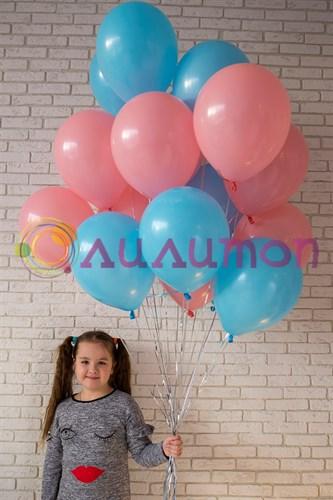 Облако из воздушных шаров 'Розовый + голубой'