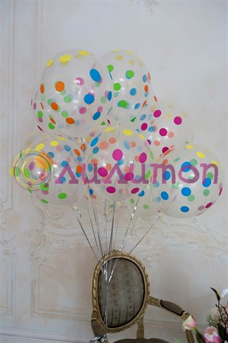 Облако из шаров 'Горошек разноцветный'