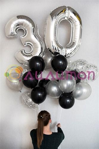 Букет шаров 'С днем рождения, именинник'