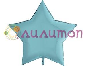 Фольгированная звезда Пастель Blue  91 см