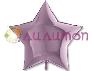 Фольгированная звезда Металлик Lilac 91 с