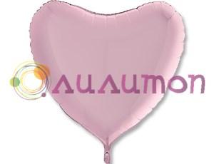 Фольгированное сердце Пастель Pink  91 см  - фото 9607