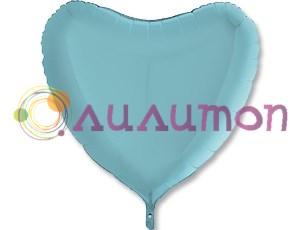 Фольгированное сердце Пастель Blue  91 см