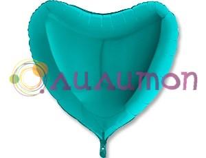 Фольгированная сердце Металлик Tiffany  91 см