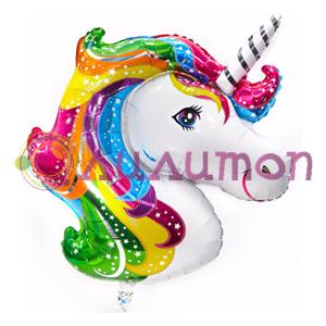 Фольгированный шар Единорог радужный' 104 см