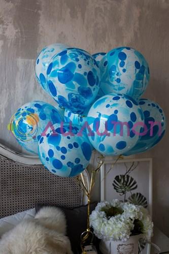 Облако из шаров 'Многоцветный Blue'