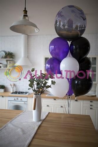 """Фонтан из шаров """"Приведение"""" - фото 9688"""