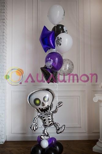 "Букет из шаров ""Скелетон"" - фото 9696"