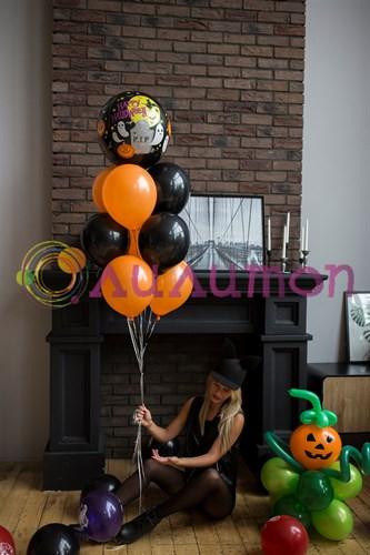 Букет из шаров 'Ночь Хэллоуина'
