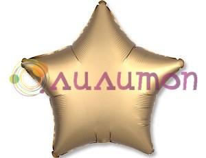 Фольгированная звезда 'мистик' золото 45см