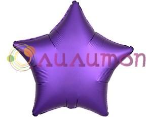 Фольгированная звезда 'мистик' пурпур 45см