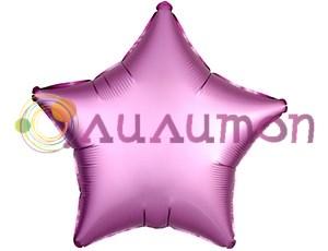 Фольгированная звезда 'мистик' фламинго 45см