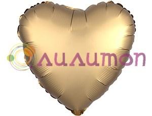 Фольгированное сердце 'мистик' золото 45см