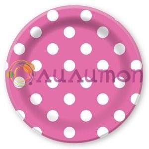 Тарелки бумажные ламинированные Горошек  - фото 9797