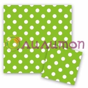 Салфетки Горошек Зеленый 12шт - фото 9805