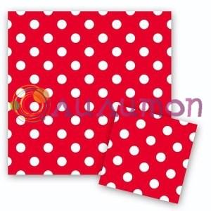 Салфетки Горошек Красный 12шт