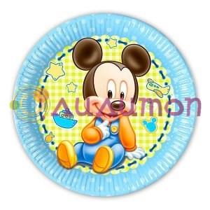 Тарелки бумажные малыш Микки