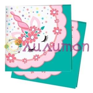 Салфетки Единорог Pink&Tiffany 12шт - фото 9822
