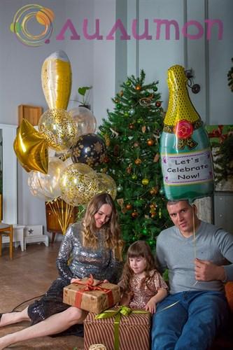 """Букет из шаров """"Новогоднее настроение"""" - фото 9837"""