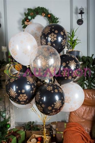 Воздушные шары 'стильные снежинки'