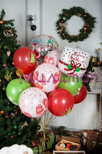 Букет из шаров 'счастливого Рождества'