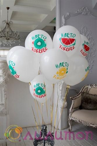 Облако из воздушных шаров 'Лето Forever'