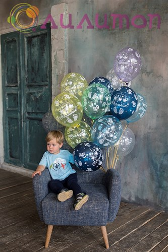 Облако из шаров 'С Рождением' Мальчик