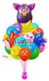 """Букет из воздушных шаров """"Фёрби девочка"""""""