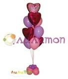 """Букет из воздушных шаров """"Сердца любви"""""""
