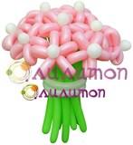 """Цветы из шаров """"Малинка"""""""