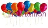 """Воздушные шары под потолок """"Металлик"""""""