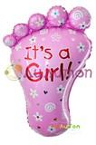 """Фольгированный шар """"Ножка девочки"""""""