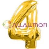 """Фольгированный шар """"Цифра 4"""" золотая"""