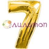 """Фольгированный шар """"Цифра 7"""" золотая"""