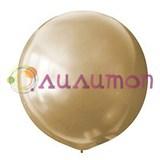 Большой золотой шар металлик 80 см