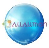 Большой шар голубой металлик 80см