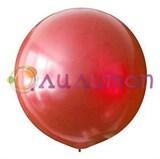 Большой красный шар металлик 80см