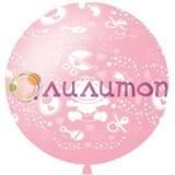 Большой шар для новорождённой девочки 80 см