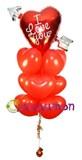 """Букет из воздушных шаров """"Пламя страсти"""""""