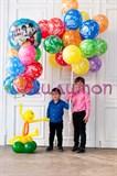 """Букет из воздушных шаров """"С днем рождения!"""""""