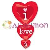 Фольгированный шар фигура ILY Сердца