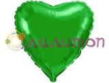 """Зеленое сердце"" Металлик 40 см"