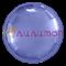 Фольгированный круг, Пастельный фиолетовый 40см - фото 10258
