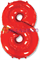 """Фольгированный шар """"Цифра 8"""" красная - фото 10320"""