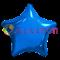 """Фольгированный шар """"Большая синяя звезда"""" 65см - фото 10393"""
