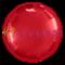 """Фольгированный шар """"Красный круг""""  65 см - фото 10403"""